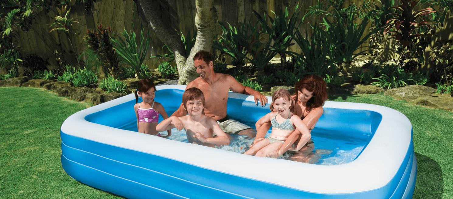 Afbeelding van een opblaasbaar zwembad