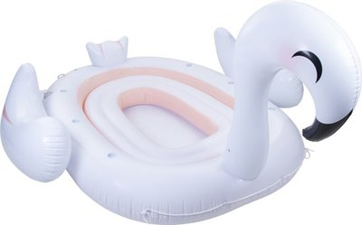Mega Inflatable Island Swan - 6 personen