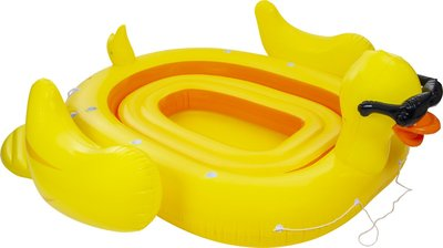 Mega Inflatable Island Duck - 6 personen