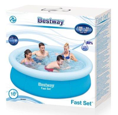 Bestway Fast Set Ø 198 x 51 opblaaszwembad